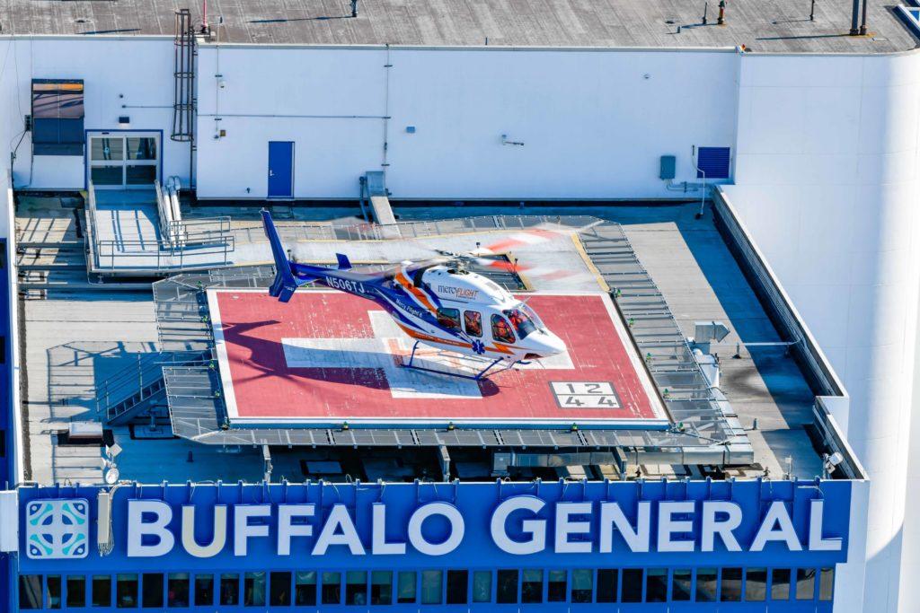 Hospital helipad