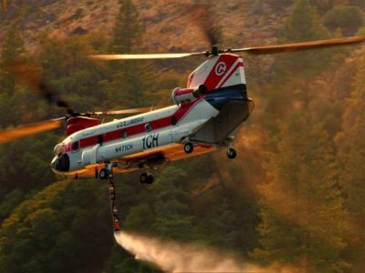 A Columbia Helicopters Boeing CH-47 during aerial fire fighting operations. Photo submitted by Instagram user @fly.guy36 using #verticalmag