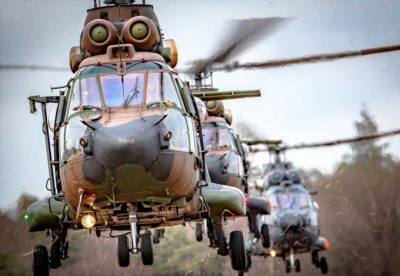 A trio of Royal Netherlands Air Force Airbus AS532 Cougar helicopters. Photo submitted by Instagram user @martijnvenix using #verticalmag