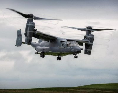USAF CV-22 Osprey from the 7th SOS carrying out recces of various potential landing sites around the Welsh border. Photo submitted by Instagram user @davidellinsaviation using #verticalmag