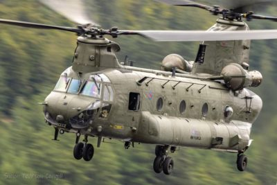 Low-flying Royal Air Force Chinook in the Lake District. Photo submitted by Instagram user @simonpearsoncougill using #verticalmag