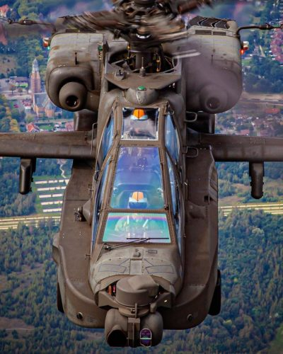 Royal Netherlands Air Force AH-64D Apache helicopter during an air to air shoot. Photo submitted by Instagram user @stinger309 using #verticalmag