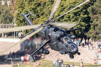 Hungarian Air Force Mi-24P demonstration, August 20, 2021. Photo submitted by Sandor Vamosi via Facebook